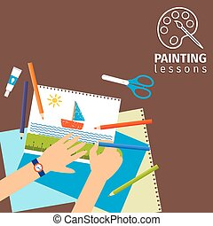 Kids painting lessons