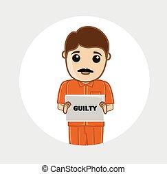 Criminal Mug Shot Vector Illustration