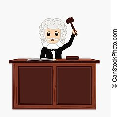 Judge Giving Verdict Vector - Judge Giving Verdict By...