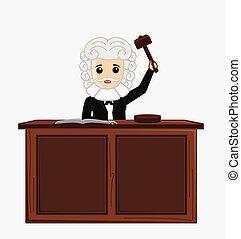 Judge Giving Verdict Vector