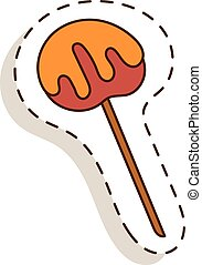 Lollipop sweet dessert - Lollipop sweet food vector...