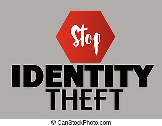 Stop Identity Theft Vector Concept