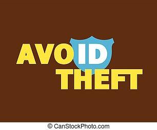 Avoid ID Theft Message Vector Illustration