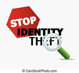 Stop Identity Theft Concept Vector Illustration