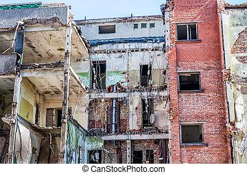 Demolished Building - Demolished Ruins old Old Building.