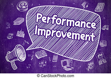 Performance Improvement - Business Concept. - Speech Bubble...