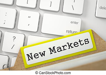 Card File with Inscription New Markets 3D - New Markets...