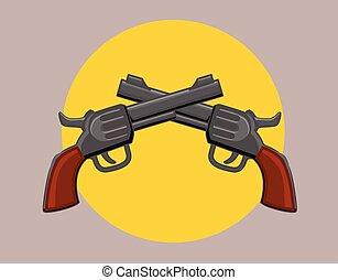 Pistols Vector Illustration