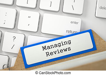Archive Bookmarks of Card Index with Managing Reviews. 3D. -...
