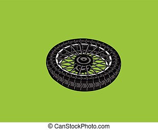 Bike Wheel Vector Illustration