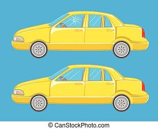 Car Crash Vector Illustrations