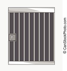 Jail Bars Vector Illustration Background