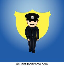 Policeman Character Vector Illustration