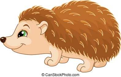 Hedgehog - Cartoon hedgehog on white background