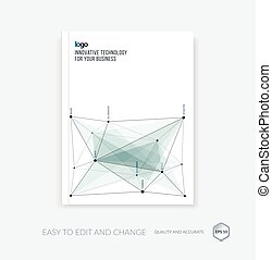 Brochure template, cover design annual report, flyer layout,...