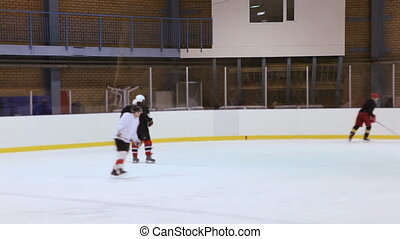 Ice hockey training - Moscow , Russia