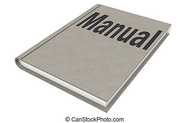 Manual Isolated on the white background, 3D rendering