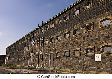 Prison wing at Crumlin Road jail in Belfast Northern Ireland