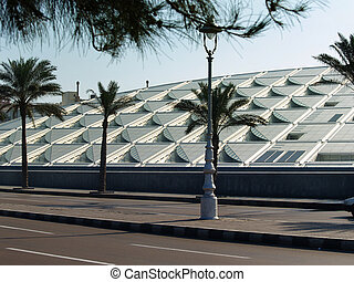 Library. Alexandria. Egypt - Library in Alexandria. View...