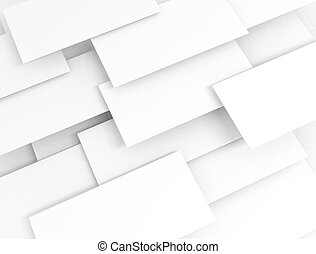 White 3d sqaures overlapped - Blank white 3d sqaures...