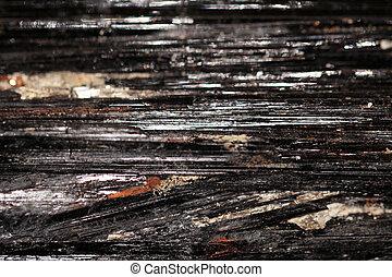 Black tourmaline - Tourmaline can be black, brown, pink,...