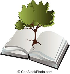 tree in a book