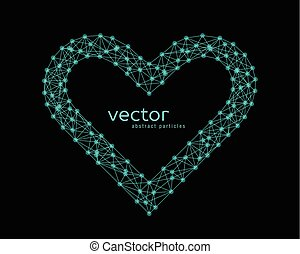 Vector illustration of heart frame - Abstract vector...