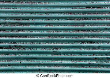 Grunge blue, sheet metal background and texture