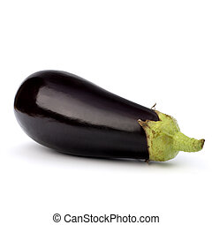 eggplant isolated on white background close up