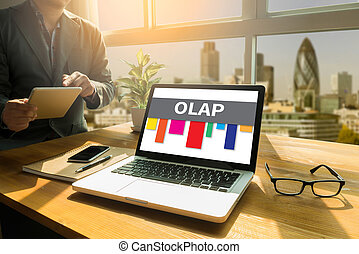 OLAP - Online Analytical Processing Thoughtful male person...