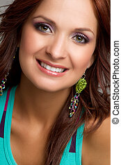 Smiling Headshot Woman - Beautiful smiling headshot woman