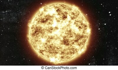 The Sun in space. Milky Way galaxy. Elements of this image...