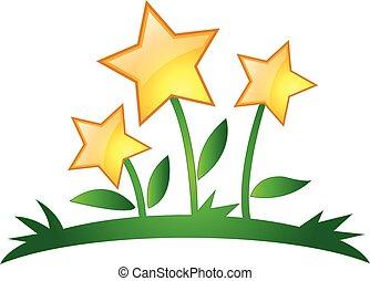 植物, 花, 星