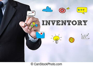 INVENTORY CONCEPT Businessman drawing Landing Page