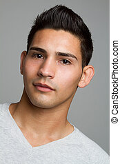 Hispanic Man - Young hispanic man closeup headshot