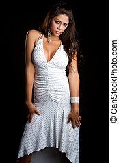 Sexy Latin Woman - Sexy latin woman wearing dress
