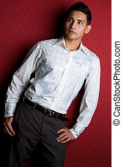 Fashion Man - Hispanic fashion man posing