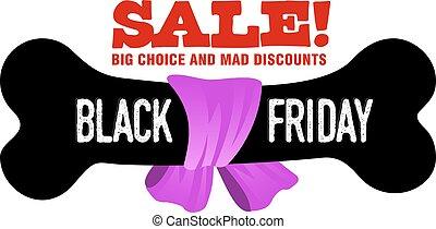 Black Friday sales tag. Vector flat Illustration, grouped...