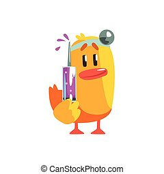 Duckling Doctor Cute Character Sticker
