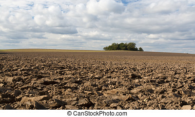 Ploughed Field - Ploughed field on a cloudy day