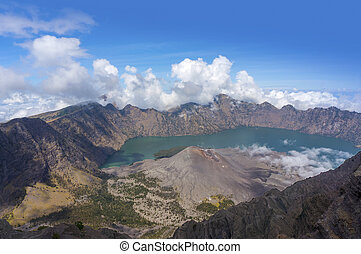 Top of Mount Rinjani, Lombok Indonesia - Amazing view from...