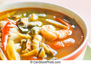 tom-yam-kung,spicy soup or thai soup