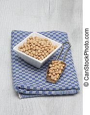 Soybeans, Glycine max, from organic cultivation
