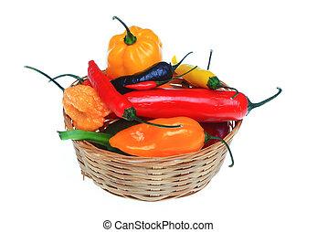 various, chili pepper, Capsicum annuum