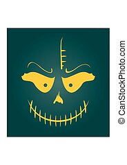 Vector Skull with Evil Laugh
