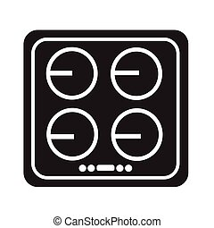electronic hob icon illustration design