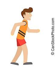 Runner on Jog Flat Style Vector Illustration - Runner on jog...