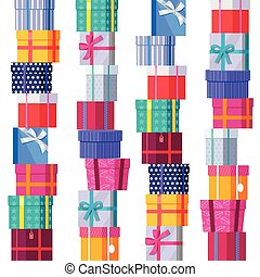 Seamless Pattern Gift Boxes. - Seamless pattern gift boxes...