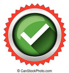 Check mark icon vector