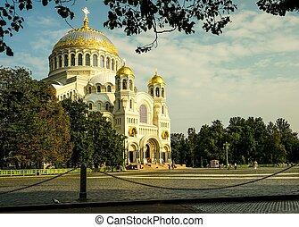 Naval St. Nicholas Cathedral in Kronstadt. - Naval St....